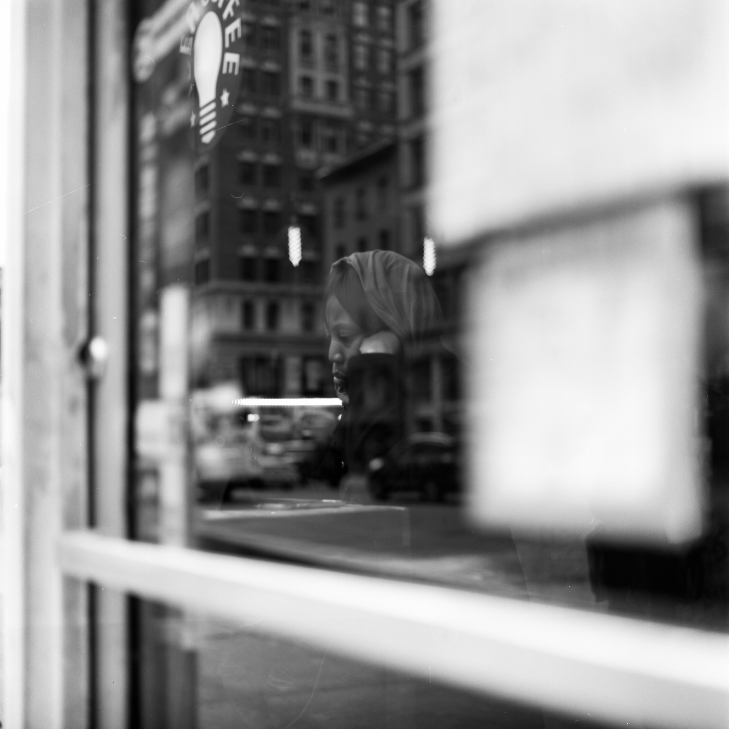 woman sitting in a coffee shop, photography of a woman in the window, old man sitting in a diner, michelle viljoen, photography, street photography, new york, new york street photography, reflection photography,michelle viljoen, street photography, new york city, photography, new york city, 120mm film, hasselblad 500